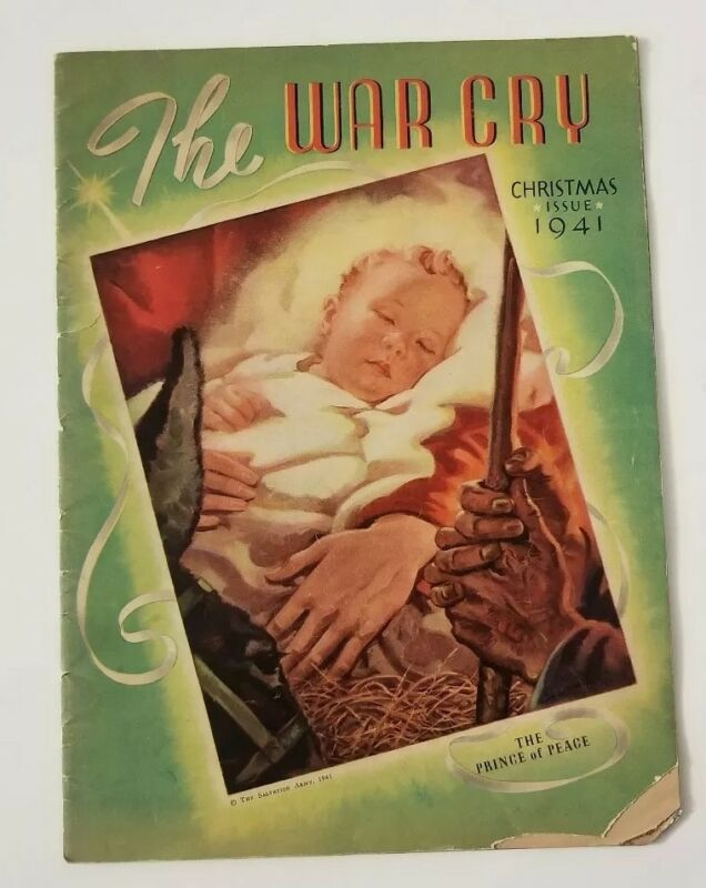 """""""The War Cry"""" Salvation Army Magazine, Christmas 1941 Issue-The Birth of Christ"""
