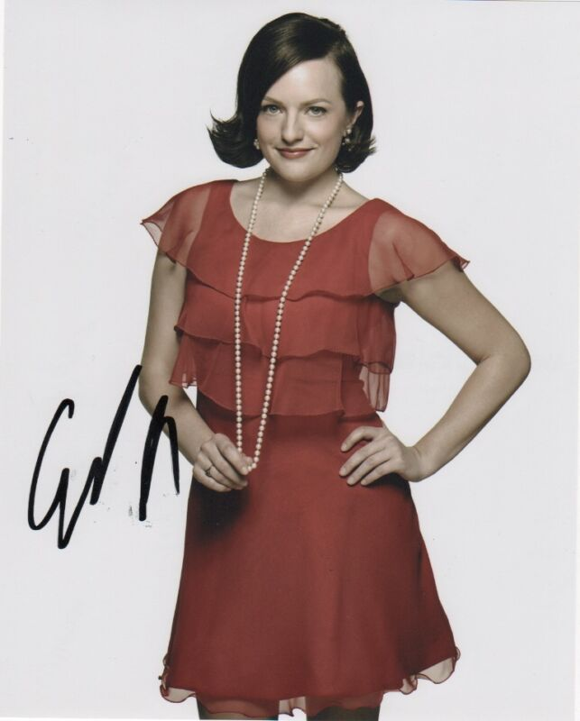 Elisabeth Moss Autographed Signed 8x10 Photo COA #6