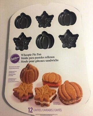 Whoopie Pie Pan (Wilton Harvest Whoopie Pie Pan pumpkin and leaf shapes 12 cavities)