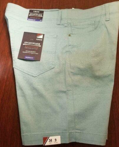 Izod Men`s Sportflex Modern Fit Stretch Waistband Shorts-sz & Cl :variety-nwt