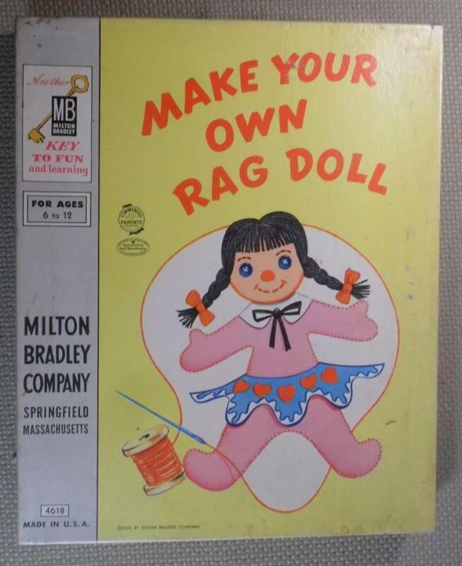 MAKE YOUR OWN RAG DOLL 1954 MILTON BRADLEY #4618 COMPLETE IN BOX