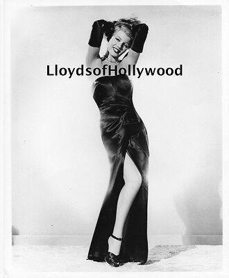 RITA HAYWORTH  GILDA COLUMBIA BLACK DRESS AND GLOVES NO BOW PHOTOGRAPH 1946