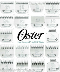 GENUINE-OSTER-CryogenX-AgION-A5-Clipper-Blades-ALL-SIZES-Fit-Andis-Wahl-Clippers