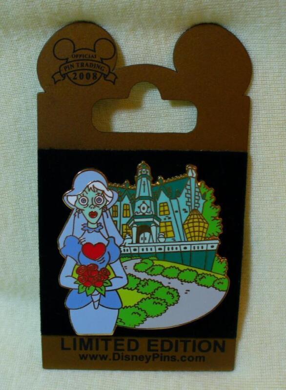 Walt Disney World Gold Card Haunted Mansion The Bride LE Pin