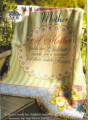 A Mother ~ Mom ~ Mother's Day Tapestry Afghan Throw -