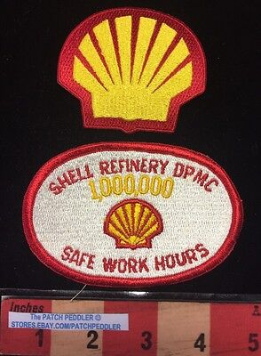 Shell Logo Patch Lot Dpmc 1 000 000 Safe Work Hours   Royal Dutch Subsidiary 61E