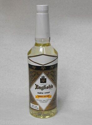32oz. 1x Jonathan English Bar Simple Syrup Cocktail Mixer
