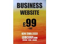 Excellent website design and development (with CMS + 5 pages) for £99 for small-medium businesses