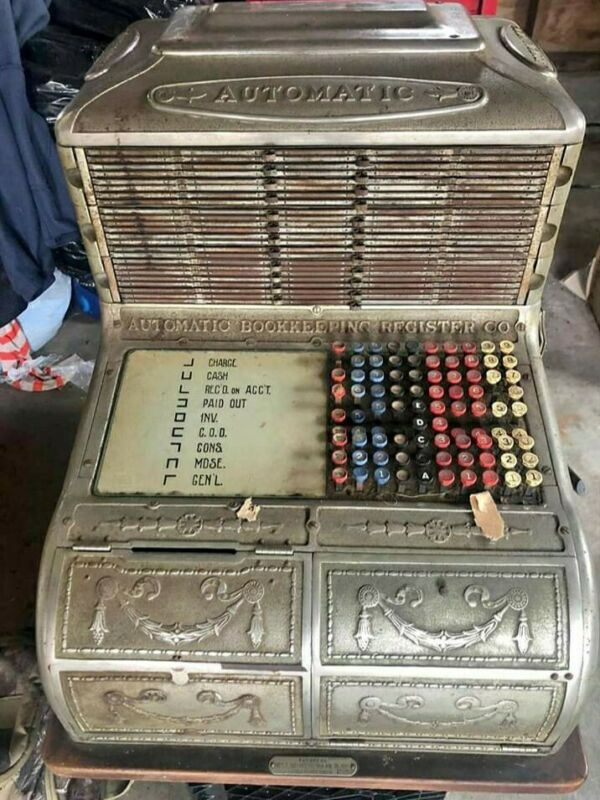 Automatic Bookkeeping Cash Register Antique Rare