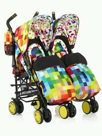 COSATTO SUPA DUPA TWIN PUSHCHAIR *NEW*