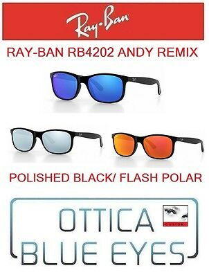 RAYBAN RB4202 ANDY REMIX POLISHED BLACK FLASH POLAIRZED sunglasses ray ban (Cheap Sunglasses Remix)