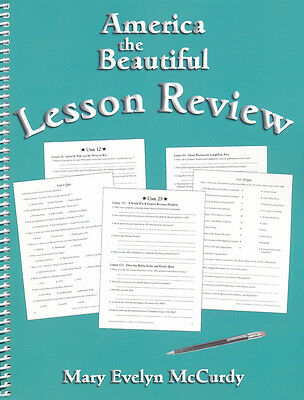 Notgrass America The Beautiful Lesson Review Book   By Mary Evelyn Mccurdy New