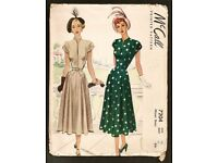 WANTED SEWING DRESSMAKING PATTERNS - VINTAGE 40's 50's 60's 70's