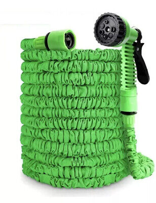 200 ft magic water hose pipe retractable flexible compact & Spray Head UK SALE
