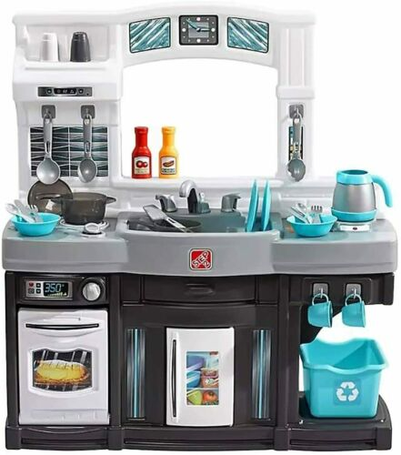 NIB Step2 Deluxe Modern Cook Kitchen Play Set Toy Playset Step 2 Blue