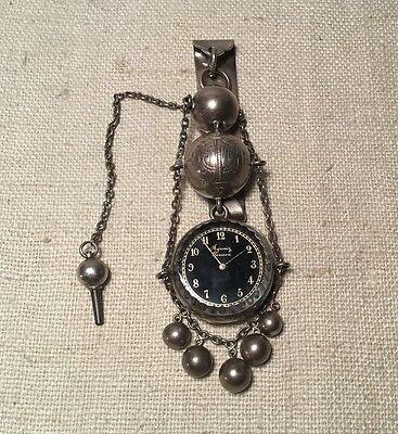 Antique Victorian Dominick Haff Sterling Silver Agassiz Geneva Watch - Geneve Sterling Silver Pocket Watch