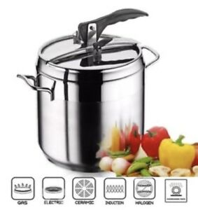 14 Liter High Quality Stainless Steel Pressure Cooker Induction Suitable - Kinox