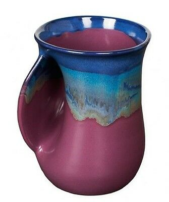 Hand Warmer Mug Purple Passion Left Hand By Clay In Motion Pottery