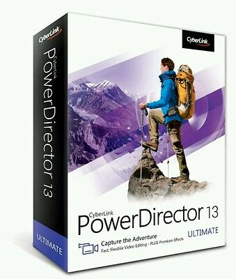 New CyberLink PowerDirector 13 Ultimate Video Editing Software for PC