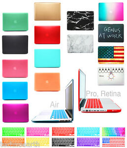 Hard-Rubberized-Case-Keyboard-Cover-For-NEW-12-MacBook-Pro-Air-13-11-15-Retina