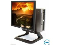 COMPLETE DELL DESKTOP TOWER PC COMPUTER SYSTEM & 17'' LCD TFT CHEAP