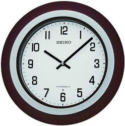 Seiko Easton 15 Walnut / Brushed Nickel Musical Wall Clock QXM547BLH