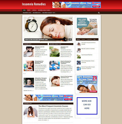 Insomnia Remedies Website Blog With Affiliates And Free Domain Hosting