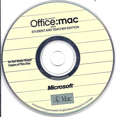 Microsoft Office mac 2004 Student And Teacher Edition With Product License Key - $6.79