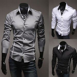Fashion-Design-Men-Korean-Style-Casual-Trim-Slim-Long-Sleeve-Dress-Shirts-Tops