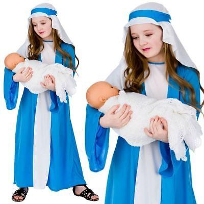 Kinder Jungfrau Maria Schickes Kleid Mädchen-kostüm Weihnachten Krippenspiel