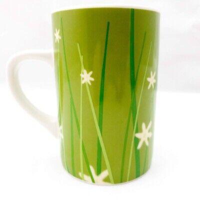 Tall Green Grass (Starbucks Tall Green Grass.Mug / Cup. 2004 Meadow Series w/White Flowers. Spring)