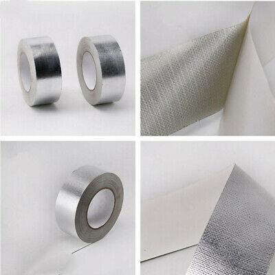 Aluminum Foil Tape 2x50m Reinforced Fiberglass Heat Shield Fireproof Us