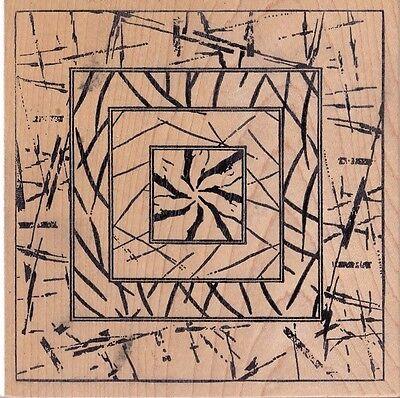 twig mosaic magenta  Wood Mounted Rubber Stamp 5 x 5