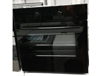 q195 black russell hobs single electric oven comes with warranty can be delivered or collected