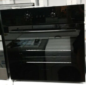 d195 black russell hobs single electric oven comes with warranty can be delivered or collected