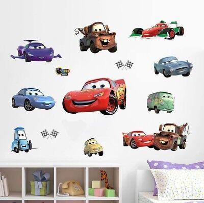 Cars Auto Lightning Mcqueen Wandtattoo Sticker Wand Deko Kinderzimmer Jungen