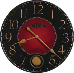 625-374  HOWARD MILLER 26 1/4 DIAMETER ROUND WALL CLOCK WITH PEND.