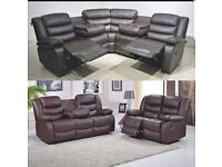 💥🤩Sofa- Brand New RECLINER CORNER 5-SEATER & 3+2 SEATER SOFA- Quick Delivery- 1 Year Warranty🤩