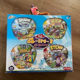 Grafix 4-in-1 pack of jigsaw puzzles