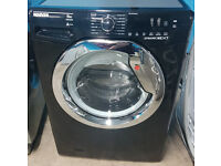 a730 black & chrome hoover 9kg 1400spin A+++ washing machine comes with warranty can be delivered