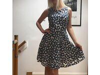 Summer blue flowers smart dress ! Almost new!