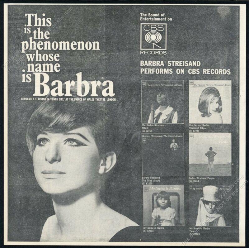 1966 Barbra Streisand photo Funny Girl in London scarce UK print ad