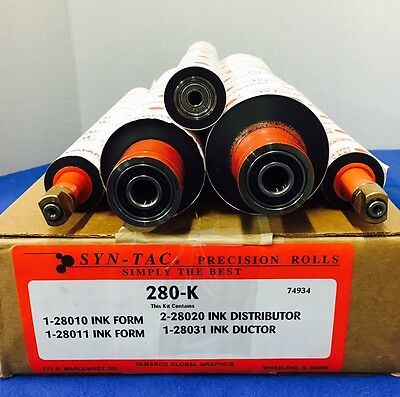 Cm 280-k Ryobi 2800960 5pcs.ink Roll Kit Soft Rubber