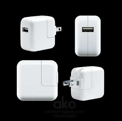 NEW 12W Power Supply Adapter Plug AC CubeCharger for Apple iPad 5 4 3 2 Mini Air