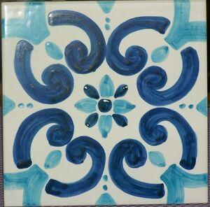 Mattonella piastrella 10x10 ceramica vietri tile maiolica for Piastrelle maiolica cucina