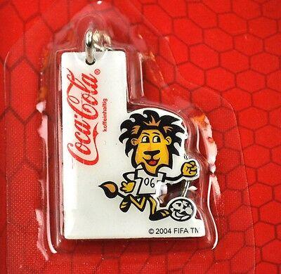 Coca-Cola Coke Schlüsselanhänger Key Chain Ring FIFA WM 2006 - Löwe Motiv 2