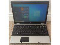 "HP Probook 6550b 15.6"" Laptop, Intel i3 2.53ghz, 4gb Ram, 320gb Hard Drive, Windows 10 Pro, Warranty"