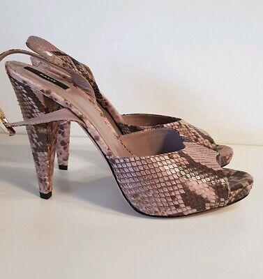 BALLY Snake Python Leder 39 Plateau Stiletto Pumps Schuhe Heels Shoes wNEU 400€  Snake Stiletto