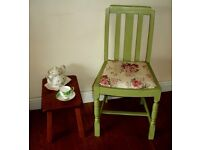 Vintage shabby chic chair