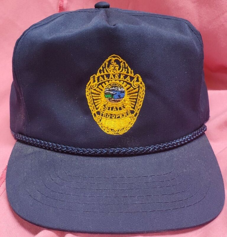 Alaska State Troopers cap poly/cotton adjustable hat free shipping